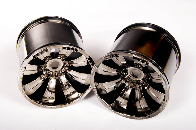 Axal And Wheel : Axial racing spoke oversize wheels black chrome pcs