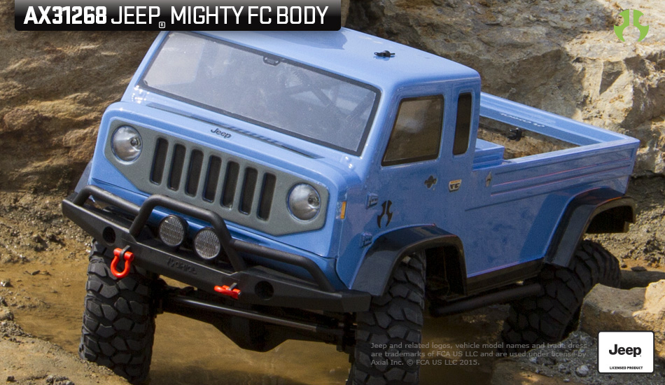 Jeep Mighty Fc >> Axial Racing Jeep Mighty Fc Body 040 Clear